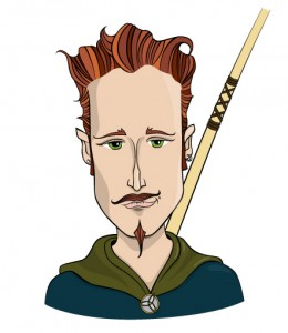 Robin Hood Portrait Illustration